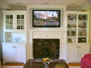 tv in custom cabinet