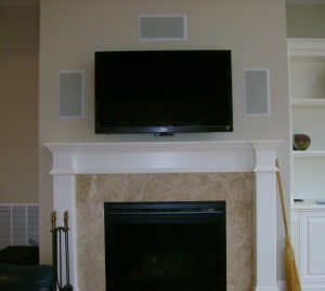 tv with in wall surround