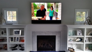 tv with playbar next level enclosure