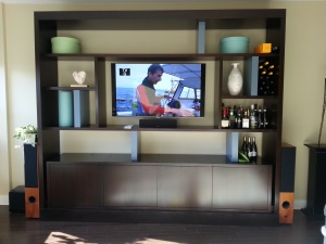 tv within custom cabinet