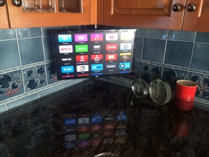 under cabinet kitchen tv