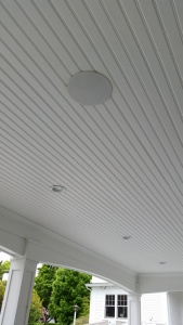 InCeiling Speakers in a covered Porch
