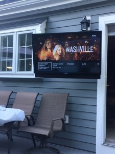 Outdoor TV on an Articulating Mount