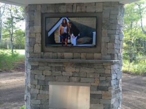 Outdoor TV over Fireplace