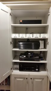 AV Components in Custom Built Cabinet