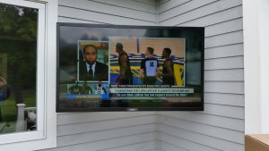 SunBrite Outdoor TV on Articulating Mount